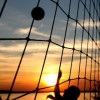 В Загородном парке пляжный волейбол