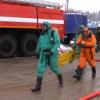 На федеральной трассе проведены учения по ликвидации последствий ДТП с выбросом аварийно-химических веществ